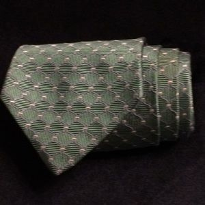 Green and blue Brooks Brothers geometric tie
